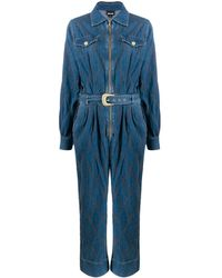 Just Cavalli デニム ジャンプスーツ - ブルー