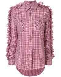 Katya Dobryakova - Gingham Embellished Shirt - Lyst