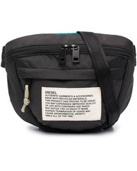 DIESEL ロゴパッチ ベルトバッグ - ブラック