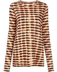 Proenza Schouler Striped Tie-dye T-shirt - Multicolor