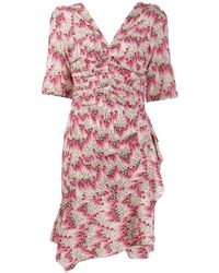 Isabel Marant Asymmetric Fitted Dress - Pink