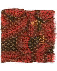 Louis Vuitton X Kusama Yayoi Pre-owned Monogram Waves Infinity Scarf - Red