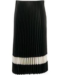 Theory Pleated Midi Skirt - Black