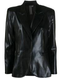Norma Kamali コーティング ジャケット - ブラック