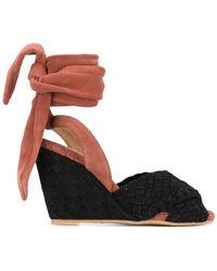 Sonia by Sonia Rykiel - Contrast Wedge Sandals - Lyst
