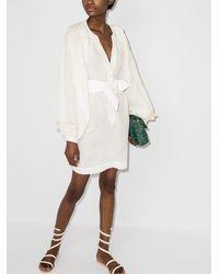 Johanna Ortiz Платье С Вышивкой И Завязками - Белый