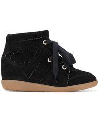 Isabel Marant Bobby Wedge Sneakers - Black