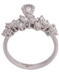 YEPREM Embellished Finger Ring - Metallic