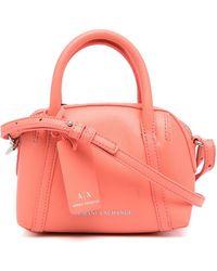 Armani Exchange Logo-debossed Mini Crossbody Bag - Pink
