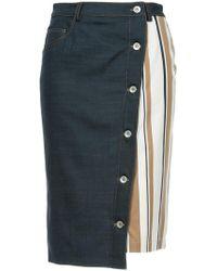 Guild Prime - Asymmetric Contrast Panel Skirt - Lyst