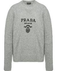 Prada ロゴ プルオーバー - グレー