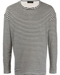 Roberto Collina - ストライプ Tシャツ - Lyst