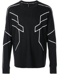 Neil Barrett Line Print Sweatshirt - Black
