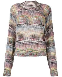 Missoni - Fine Knit Turtleneck Sweater - Lyst