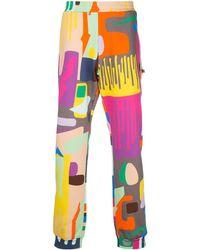 Walter Van Beirendonck Pantalones de chándal All Over Drip - Rosa
