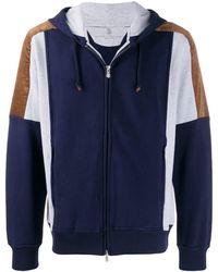 Brunello Cucinelli ジップアップ スウェットシャツ - ブルー