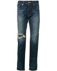 R13 Jeans Met Gerafeld Detail - Blauw