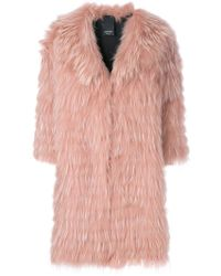 Numerootto - Cropped Sleeve Fur Coat - Lyst
