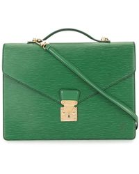 Louis Vuitton Портфель Porte Documents Bandouliere 1990-х Годов - Зеленый