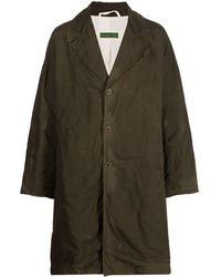 Casey Casey Oversize Crinkle-effect Mid-length Coat - Brown