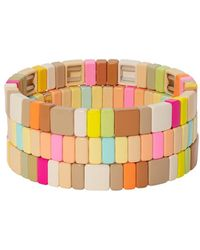 Roxanne Assoulin Neons And Neutrals Set Of Three Bracelets - Multicolor