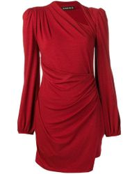 Plein Sud - Ruched Asymmetric Mini Dress - Lyst
