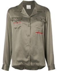 Maharishi - Embroidered Blouse - Lyst