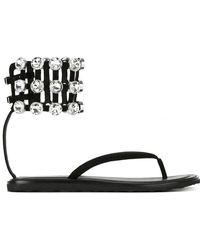 Alexander Wang Aubrey Embellished Flip Flops - Black