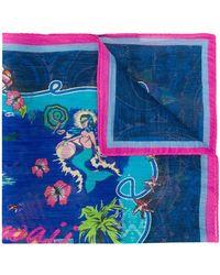 Etro Pañuelo con estampado hawaiano - Azul
