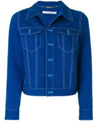 Givenchy - Star Patch Denim Jacket - Lyst