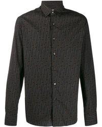 Ferragamo Рубашка С Принтом Chains - Черный