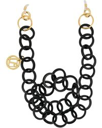Linda Farrow - Two-tone Hoop Chain Necklace - Lyst