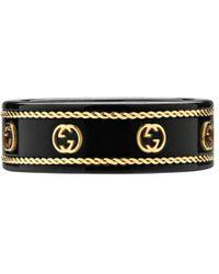 Gucci Ring Met Monogram - Zwart