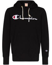 Champion ロゴ パーカー - ブラック