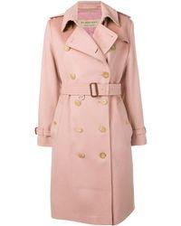 Burberry カシミア トレンチコート - ピンク