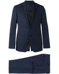 Lardini ツーピース ディナースーツ - ブルー