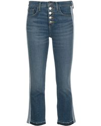 Veronica Beard Mid Rise Flared Jeans - Blue