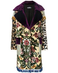 Jeremy Scott - Tassel-trimmed Patchwork Coat - Lyst