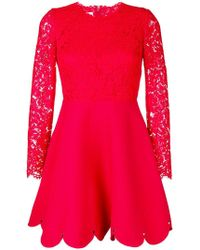 Valentino - Lace Top Mini Dress - Lyst