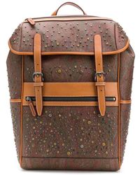 Etro Paisley Pattern Backpack - Brown