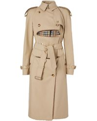 Burberry Katoenen Trenchcoat - Naturel