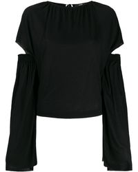 DIESEL カットアウト Tシャツ - ブラック