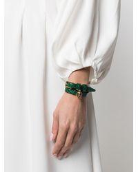 Alexander McQueen Браслет С Декором Skull - Зеленый