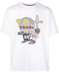 PUMA X Rhude T-Shirt mit Print - Weiß