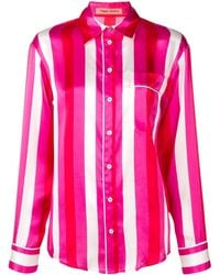 Maggie Marilyn Pyjama Style Striped Top - Pink