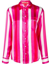 Maggie Marilyn Pajama Style Striped Top - Pink