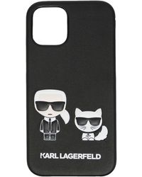 Karl Lagerfeld Cover per iPhone 12 Karl Choupette - Nero