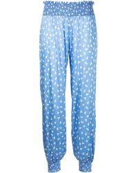 Morgan Lane Pantalones con estampado Camille Chickadee - Azul