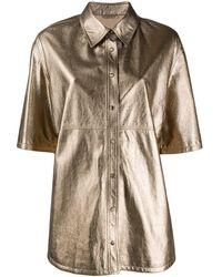 Brunello Cucinelli - Рубашка С Эффектом Металлик - Lyst
