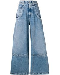 Maison Margiela Wide Leg Pants - Blue